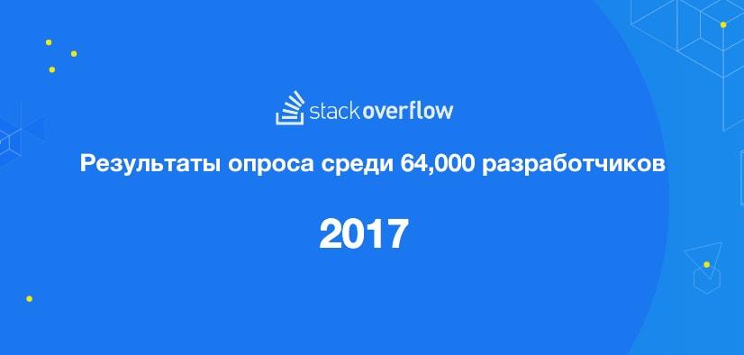 Опрос среди разработчиков от Stackoverflow